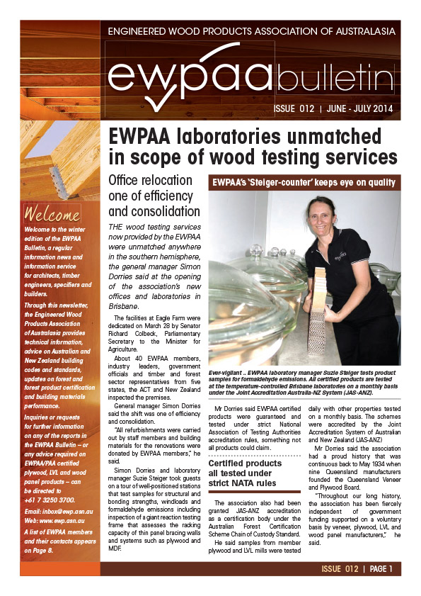 EWPAA Bulletin 012 June-July 2014